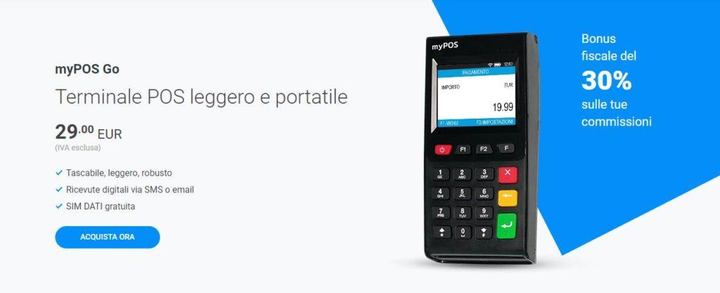 MyPOS Go, una soluzione economica e detraibile